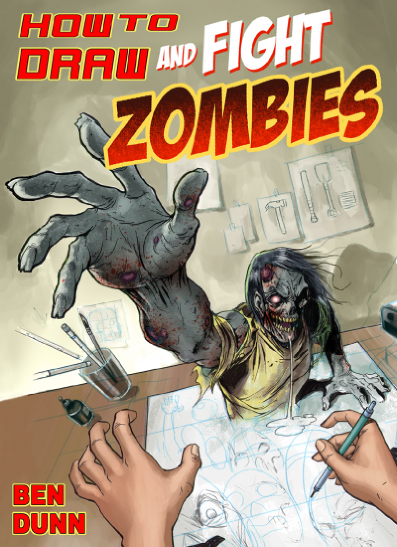 How to Draw and Fight Zombies Halloween Comic
