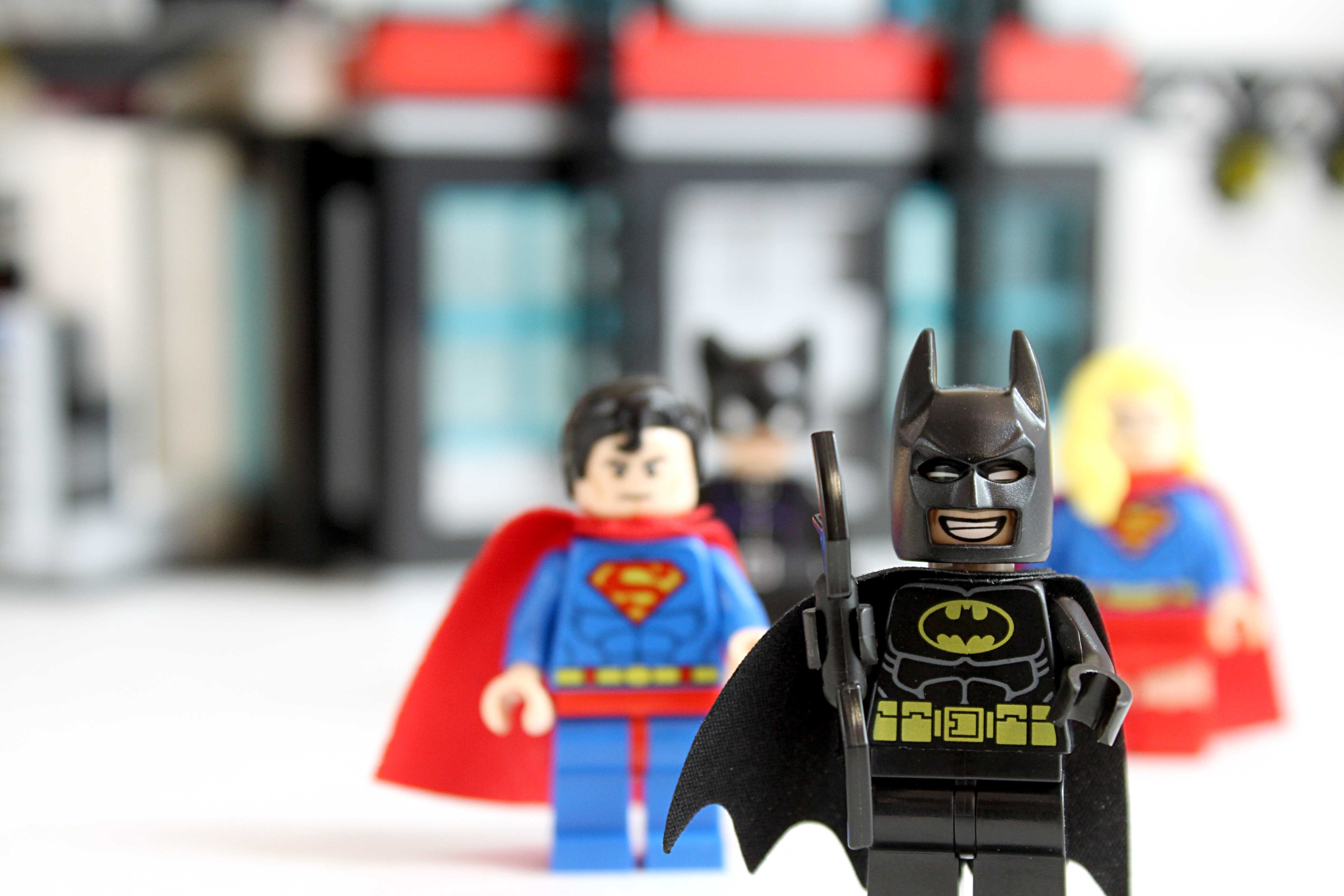 Lego Batman Superman image used for Editorial Purposes only